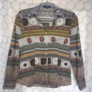 Etro long sleeve button down blouse